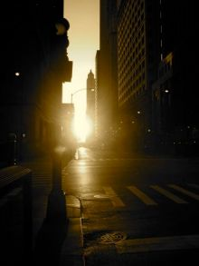 Sunrise on a street
